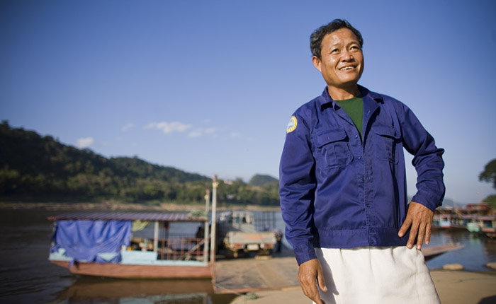 Boatman Luang Prabang, Laos