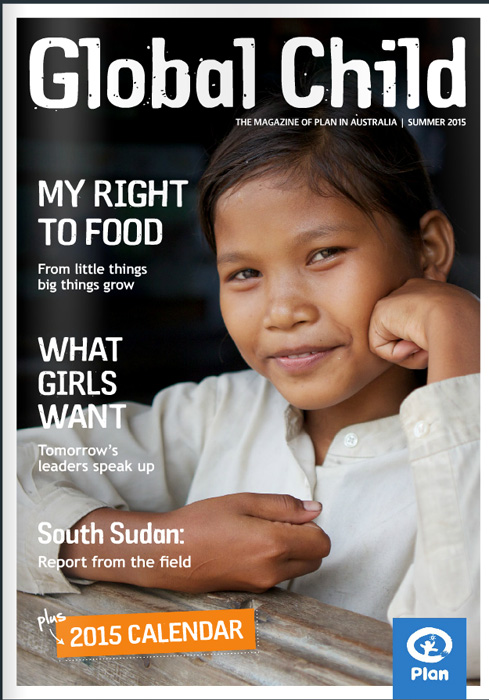 Plan Australia Global Child Magazine front cover