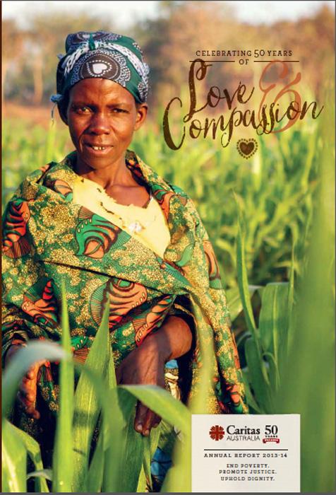 Caritas Australia Annual Report front cover